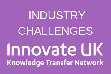 Graphic to promote a link to the challenges promoted by Innovate UK and Knowledge Transfer Network