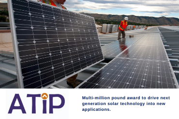 Graphic: £6m award for solar technology.