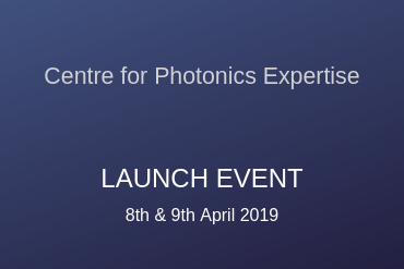 Graphic: Launch dates for Centre for photonics expertise