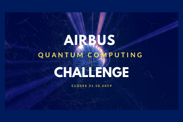Graphic to promote Airbus Quantum Computing Challenge