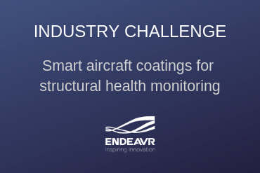 Graphic: Endeavr industry challenge - smart aircraft coatings for structural health monitoring